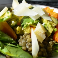 Late Summer Lentil Avocado Pumpkin Salad