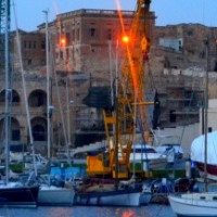 New moon in Birgu by night