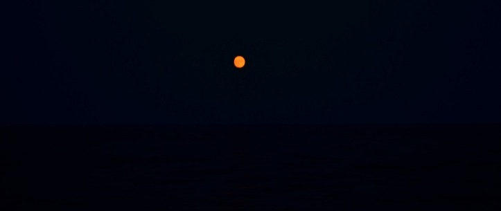 Full moon guiding us from Sicily to Malta