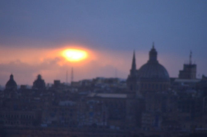 Hymn to a sunrise over Valletta